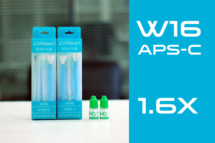 W16 APS-C 1.6x Swab + K5 Solution, 2 packs