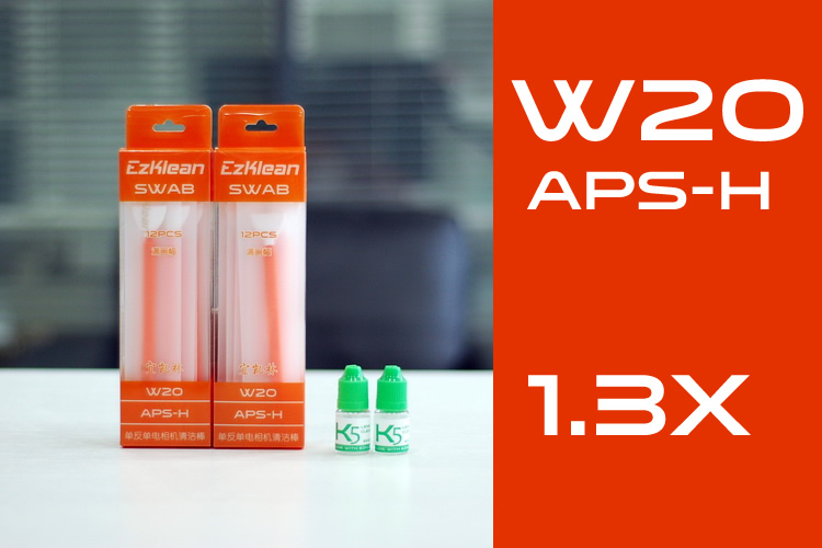 W20 APS-H 1.3x Swab + K5 Solution, 2 packs
